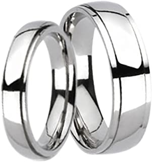 Titanium His and Hers Wedding Bands Ring Set for Him and Her Men Women