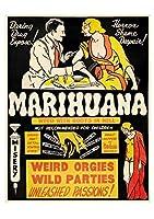 Marijuana ティンサイン ポスター ン サイン プレート ブリキ看板 ホーム バーために