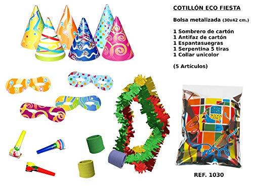 CAPRILO Lote de 15 Bolsas de Cotillones Decorativas Eco Fiesta. Cotillón para Fiestas y Eventos. Decoración...