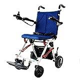 ZDW Silla de ruedas Silla de ruedas eléctrica multifuncional ultraligera para niños, Silla de ruedas eléctrica que se puede transportar en el avión, Silla de ruedas portátil liviana, Moto dual de 250
