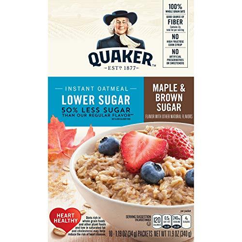 Quaker Instant Oatmeal Maple Brown Sugar | Amazon