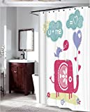 GYMNLJY Dusche Vorhang Bad wasserdichte Polyester Stoff Blackout Bad Dusche Vorhang Odorless und Mehltau resistente hängenden Vorhang abgeschnitten , 5 , 180*200