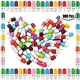 PartyYeah 100 Pcs Tiny Love Message Capsule Letter in a Bottle Cute Love Friendship Half Pill in Random Color