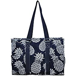 "professional N. Gil 18 Large Utility Tote Bag 2 (Dark Blue"" Southern Pineapple )"