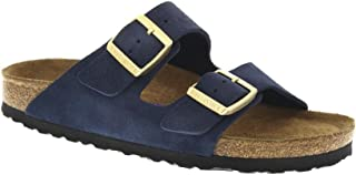 e307df5fe634 Birkenstock Unisex Arizona Navy Suede Sandals - 6-6.5 2A(N) US Women