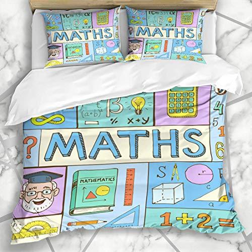 Soefipok Sets de Fundas nórdicas Matemáticas abstractas Matemáticas Doodle Sujeto Álgebra Geometría...