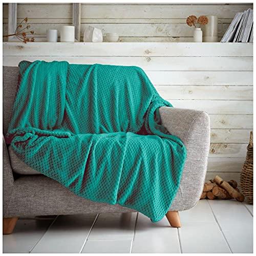 GAVENO CAVAILIA Luxury Quality Snuggle Fluffy Teddy Popcorn Throw, 100%...