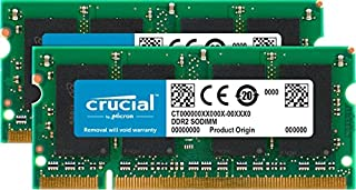 Crucial 4GB Kit (2GBx2) DDR2 800MHz (PC2-6400) CL6 SODIMM 200-Pin Notebook Memory Modules CT2KIT25664AC800 (B0013441J8) | Amazon price tracker / tracking, Amazon price history charts, Amazon price watches, Amazon price drop alerts