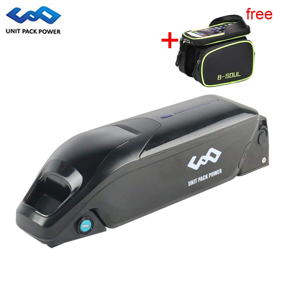 uppcycle Batería de Litio para Bicicletas eléctricas, 36V 10.4AH / 10AH Dolphin Battery + Puerto USB + 42V 2A Cargador, Ajuste Banfang 36V 500W Motor (36V 10.4-LG Cells): Amazon.es: Deportes y aire libre