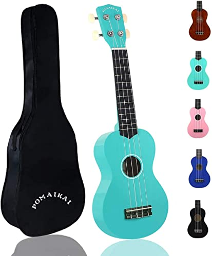 POMAIKAI Soprano Ukulele for Beginners, Kid Guitar 21 Inch Ukelele Instrument for Adults Wood Toddler Guitar Small Ha...