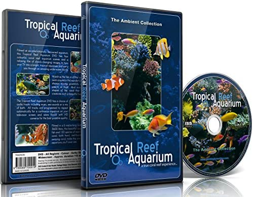 Aquarium DVD Tropical Reef Aquarium Filmed In HD with Natural Sound and Relaxing Music product image