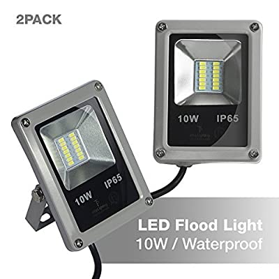 ETOPLIGHTING Outdoor 10W 12V LED Flood Light 100W Halogen Equivalent, Waterproof IP65, 30,000 Life Hours, Daylight White 5500K, APL1498