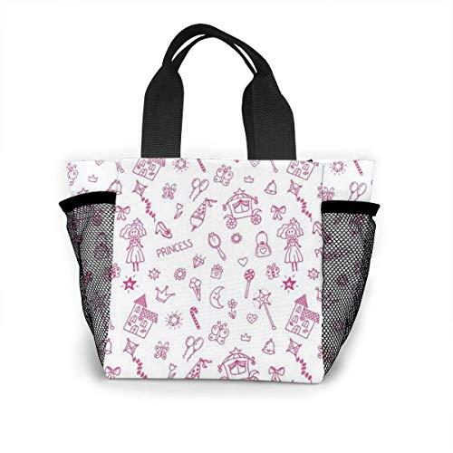 not applicable Wiederverwendbare Einkaufstasche Walltastic Fairy Princess Einkaufstasche aus Ripstop-Polyester oder Lunchpaket
