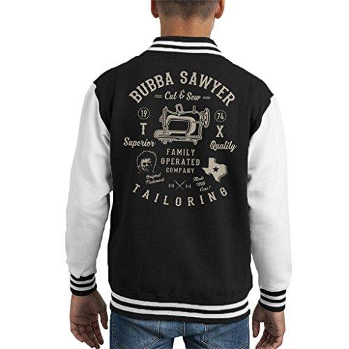 Cloud City 7 Bubba Sawyer op maat Texas kettingzaag bloedbad kind Varsity jas