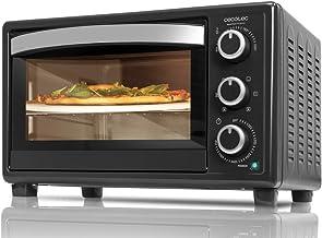 Cecotec Horno de sobremesa con piedra para pizza.Multifunción de sobremesa con 26 litros. Ideal para pizzas. Cocina por convección.Luz interior y puerta con doble cristal. 1500 W. Bake&Toast 570