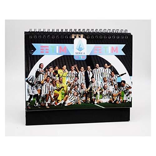 JJH Calendario temático de fútbol 2021, calendarios de Escritorio Deportivos para Hombres 2021-2022 mensual, Regalo de año Nuevo para fanáticos de fútbol, 21 x 17 cm