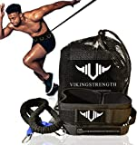 Vikingstrength - 360° Resistance Running Training Bungee Band (Waist) & Workout Guide Speed, Fitness Agility, Speed Strength – Gym Equipment for Football, Basketball, Crossfit, Solo or Partner