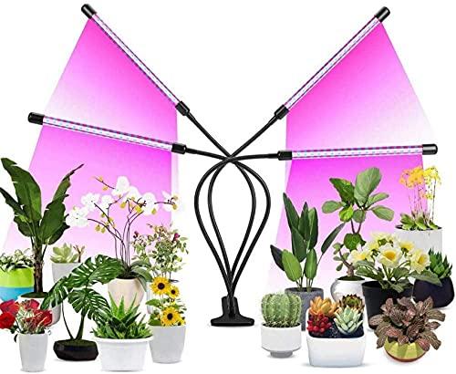 ZHANGDA Beleuchtung Innenpflanzenwachstumslicht 80LED Vollspektrum rot Blau Pflanzenlicht Automatisch EIN/Aus 3/9 / 12H Timer 9 Einstellbare Helligkeit zur Förderung der Pflanzenblüte