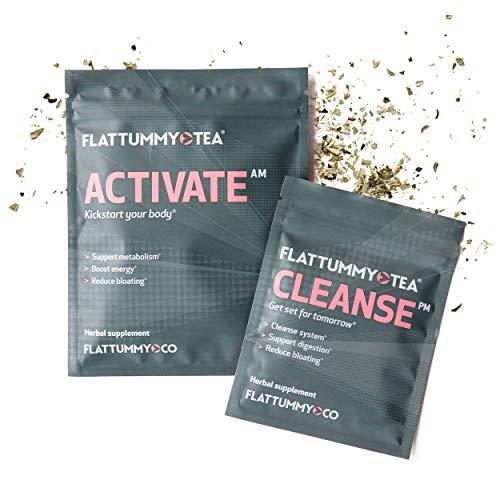 Flat Tummy Tea, 2-Step Detox Tea (4-Week Program)