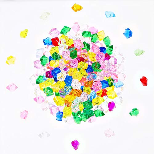 SumDirect 1 Pound Aquarium Jewels, Acrylic Pirate Gems Jewels Stones for Kids Crafts Table Scatters Vase Fillers