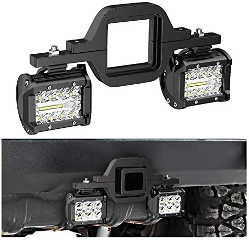 Nilight 2 PCS 4 Inch 60W Led Light Bar with 2 5 Inch Tow Hitch Mounting Brackets LED Backup product image