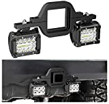 Nilight 2 PCS 4 Inch 60W Led Pods with 2.5 Inch Tow Hitch Mounting Brackets LED Backup Reverse Lights Rear Search Lighting Led Light Bar for Pickup ATV SUV Truck Trailer Boat
