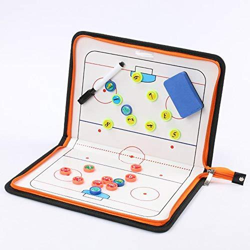 Tablero táctico Carpeta Táctica Pizarra de Entrenamiento Pizarra táctica Carpeta Entrenador de Hockey sobre Hielo con Tablero de Entrenamiento,Estrategia táctica,con ajedrez magnético