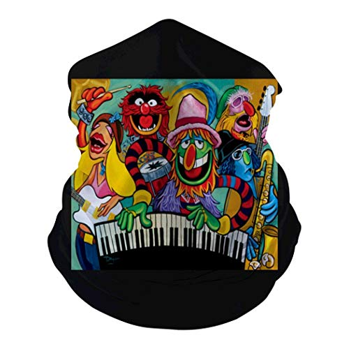 Electric Mayhem J-azz Seamless Face Mouth Cover Scarf - Summer Protection Breathable Face Cover for Adult