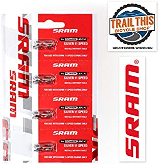 Trail This Sram Powerlock Chain Connector 11-Speed Chain Link w/Sram Decal Decal / 2 Pack or 4 Pack