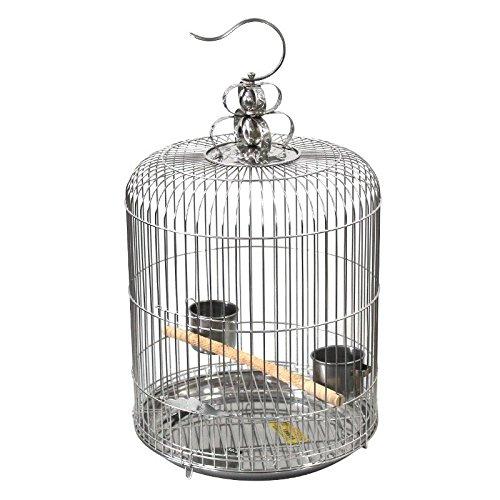 Pet Online Sicherheitsbehälter aus Edelstahl runden anzeigen Käfig Ultra-fine-pitch 1.2Cm für alle birdies geeignet, XXL