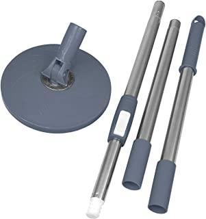 Primeway Stainless Steel Replacement Mop Handle & Disc Plate Set, 125cm, Grey