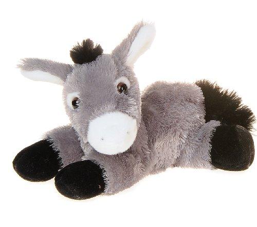 Aurora, 12504, Mini Flopsie Esel, 20cm, Plüschtier, grau