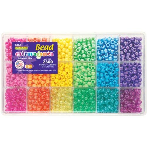 Beadery B6262 The Sparkles Pony Bead Box - approximately 2300 beads