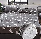 RKZM Gesteppte gepolsterte wasserdichte Bettdecke Pad Cover Urinal atmungsaktive Matratze Cover Staubschutz Slip Sheet 180X200 + 30Cm