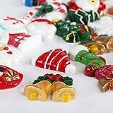 Kesote 30 Stück Mini Weihnachten Deko DIY Zubehör Kunstharz Miniatur Klein Figur - 5