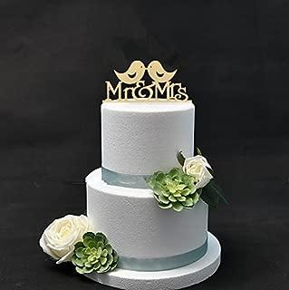 Two Love Birds Wood Cake Topper Wedding Cake Topper For Wedding Party Decoration Cake Decorating