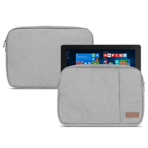 NAUC Dell Venue 11 Pro 10.8 Zoll Tablet Tasche Grau Schutzhülle Hülle Cover Case