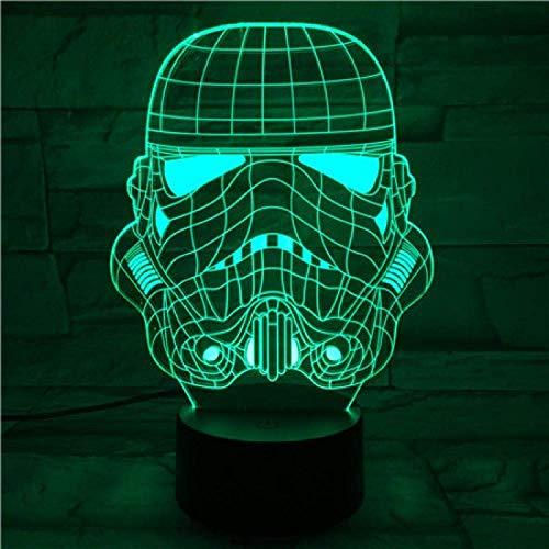 Lámpara De Ilusión 3D, Luz De Noche Led, Star Wars Imperial Stormtrooper, El Mejor Regalo Para Niños, Sensor Táctil, Entrega Rápida Para Decoración De Interiores