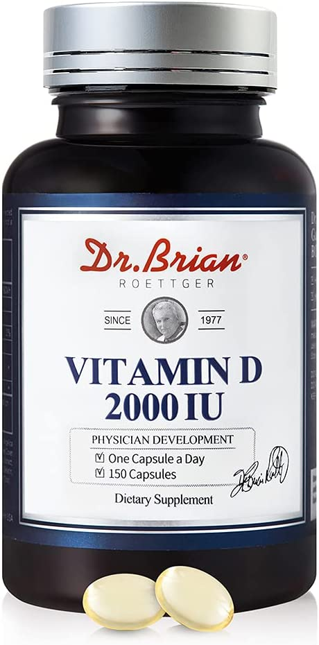 Dr.Brian Ranking integrated 1st place Free Shipping New Vitamin D3 2000IU Softgels 150 High Count Vitam Potency
