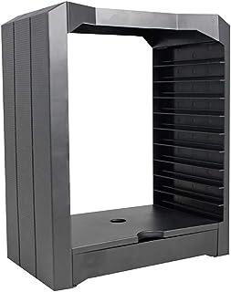 Estanterías para CD DVD Torre de almacenamiento de disco universal multifuncional para juegos de PS4, 10 juegos y soporte para discos Blu Ray, Game Disks Organizer Storage Rack para XBOX ONE PS4, negr