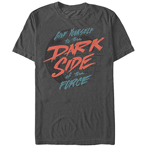 Star Wars Men's Give Yourself Graphic T-Shirt, Charcoal, XL