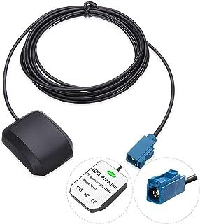 Vecys Auto GPS antenne 1575,42 MHz Fakra C adapter Recht 28DBi met 3 m GPS Fakra antenne Magnetische basis voor auto-voert...