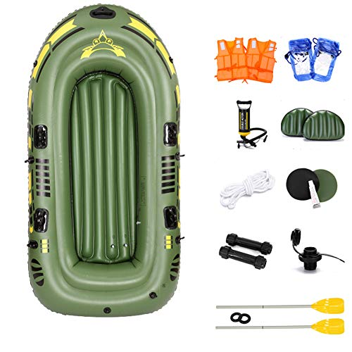 YIDPU Schlauchboot Set Paddel,verdicktes Beiboot Beständig Gegen Wind Und Wellen Antialterung Tragbarer Faltraum,geeignet Für Outdoor Rafting Wettkampf,Suitable for Three People