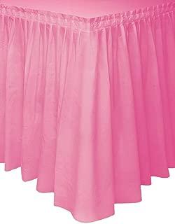 plastic table cover skirt