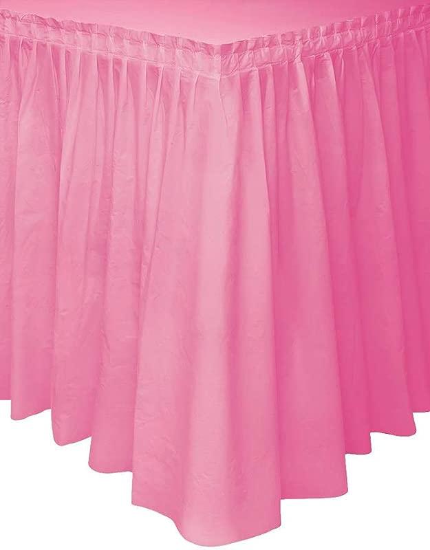 Hot Pink Plastic Table Skirt 29 X 14ft