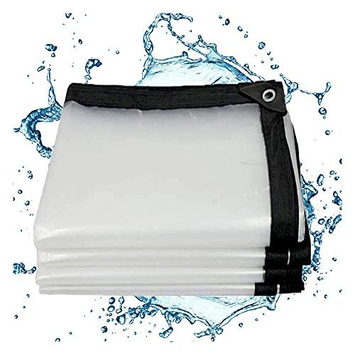JLVAWIN Toldo resistente plegable, resistente a la lluvia al aire libre, cubierta de muebles de jardín, lona de plástico PE con ojales, grosor 0,45 mm-3 m x 4 m