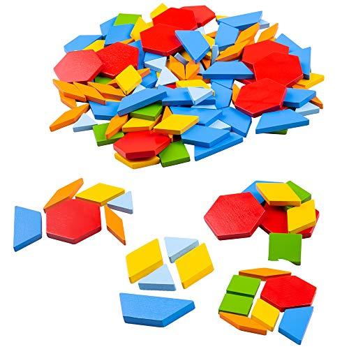 Bigjigs Toys Houten Patroon Tegels - Educational Geometrische vormen