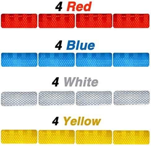 16 Pcs Reflective Diamond Grade High Visibility Outdoor Waterproof Stickers for Cars Motorcycles product image