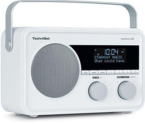 TechniSat DIGITRADIO 220 – Portables, empfangsstarkes DAB+/UKW Digital Radio – Mit Wecker, Sleeptimer und Aux-Anschluss für Kopfhörer – Indoor & Outdoor zu nutzen