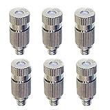 Chiloskit Buses de brumisation à basse pression filetées en laiton pour système de refroidissement extérieur, 0,3 mm (basse pression 0,3 mm)